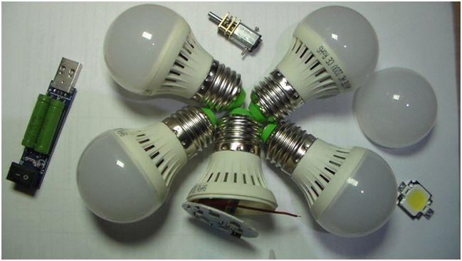 5 светодиодных ламп