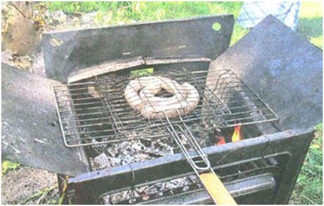 мангал из плиты