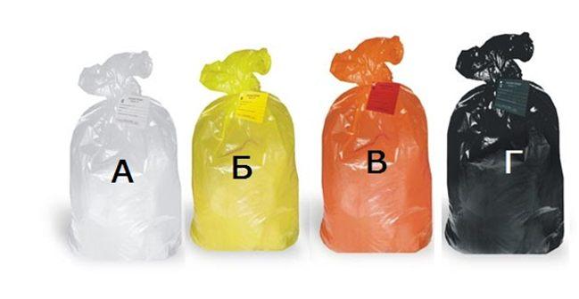 мешки под разные виды медицинских отходов