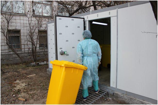 место временного хранения мед отходов