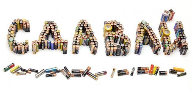 надпись из батареек