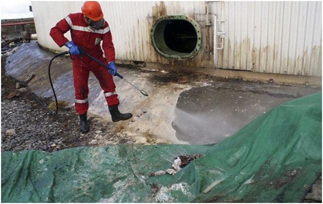 очистка нефтяных резервуаров