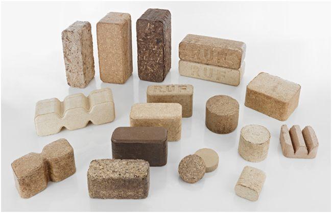 разновидности топливных брикетов