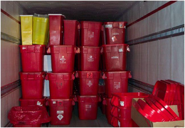твердые контейнеры для отходов класса в