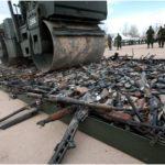 уничтожение оружия катком