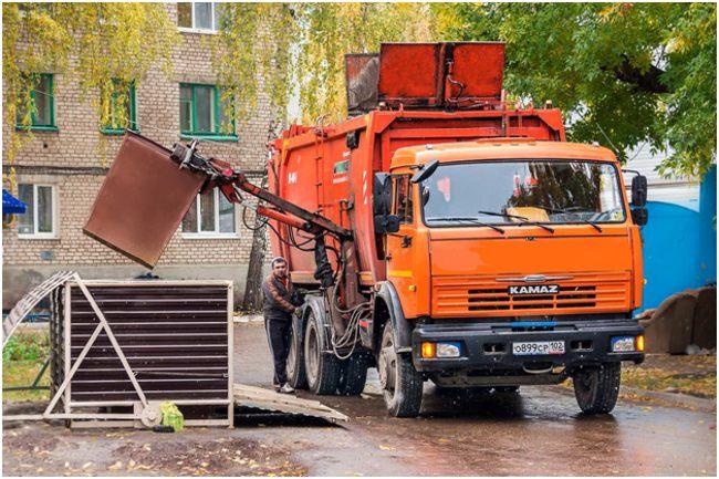 вывоз мусора на камазе