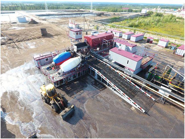 завод по переработке нефтешламов сверху
