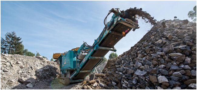 дробление бетонных отходов
