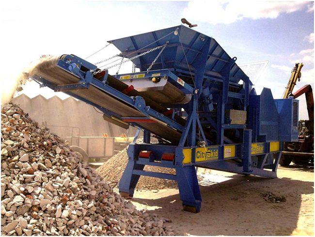 измельчение бетонных отходов