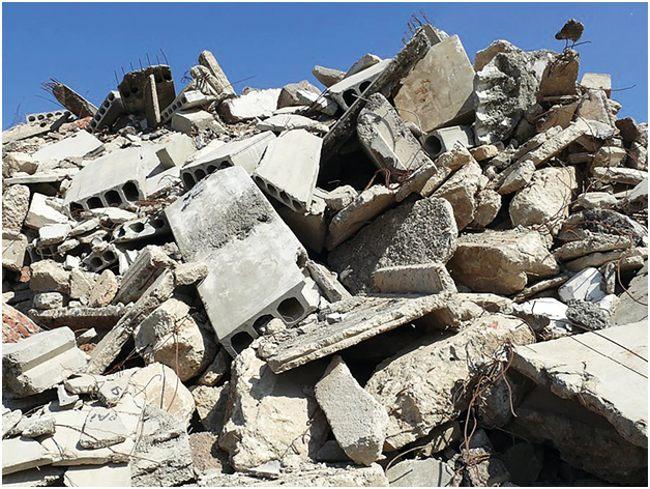 обломки бетонных плит