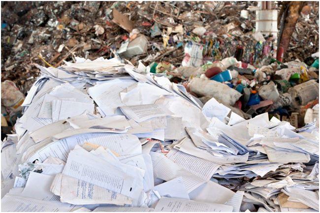 отходы бумаги