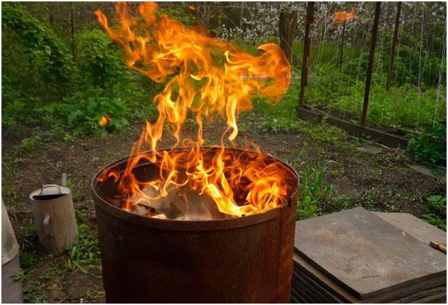 пламя из бочки