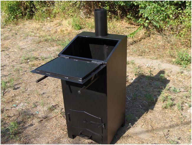 покупная дачная печь для сжигания отходов