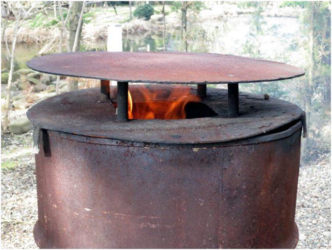 самодельная бочка для сжигания мусора