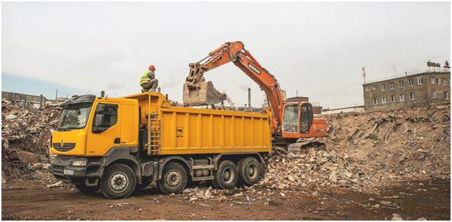 сбор строительного мусора при демонтаже