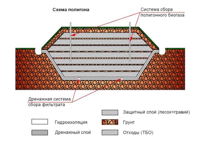 схема полигона