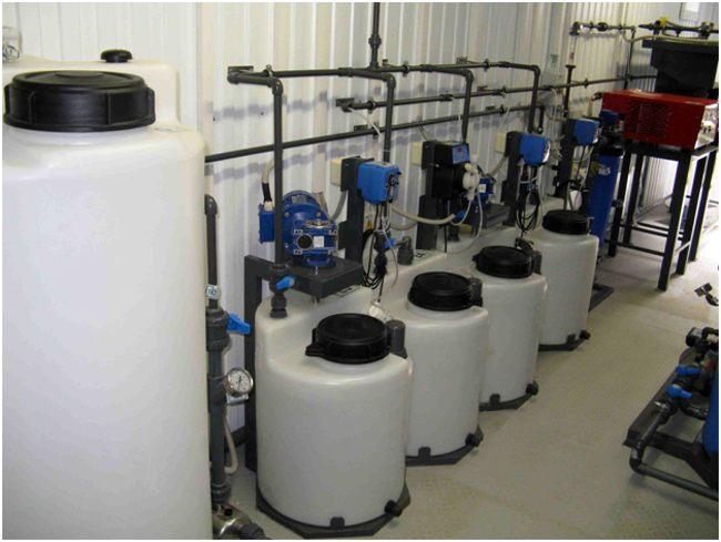 система очистки фильтрата полигонов