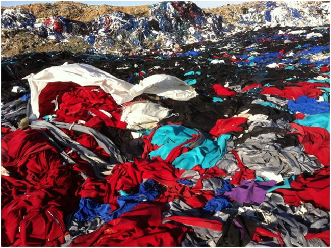 свалка из одежды