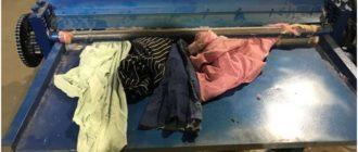 установка для разволокнения одежды