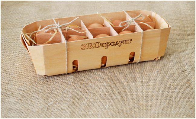 яйца в экоупаковке