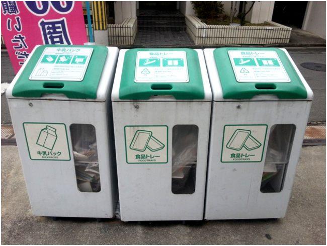 японские контейнеры для отходов