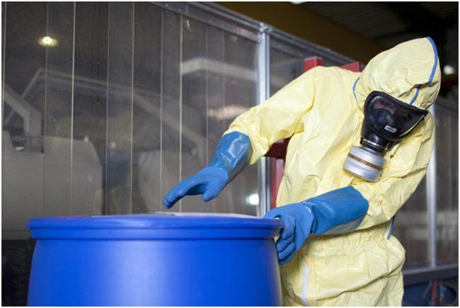 бочка с опасными химическими отходами