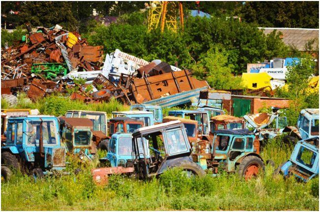 кладбище тракторов