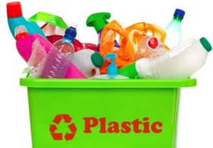 корзина с пластиком