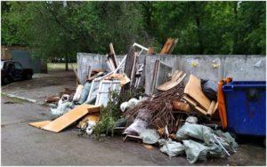 крупногабаритный мусор у баков