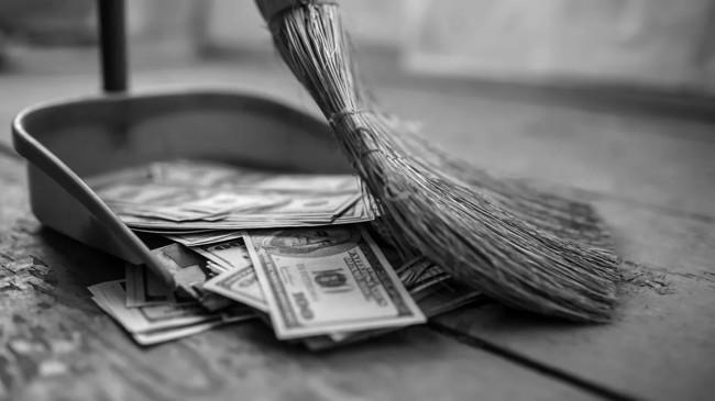мусор из денег