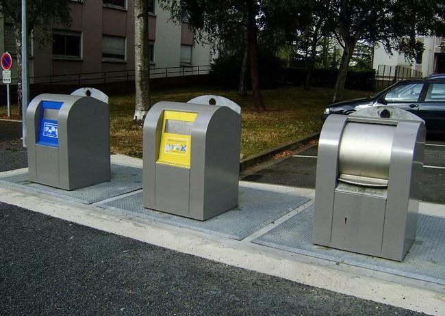 мусорные баки в европе