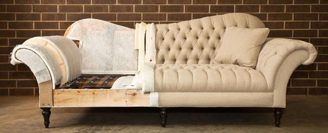 половина дивана старого и нового