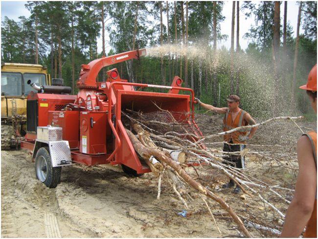 промышленный измельчитель древесины