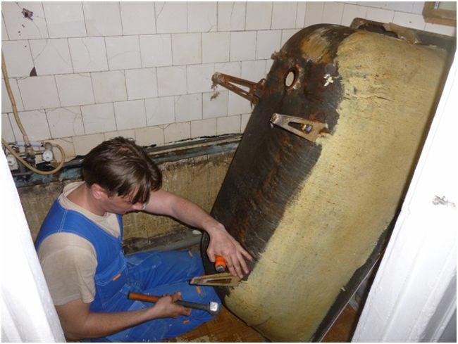 снятие ножек с ванны