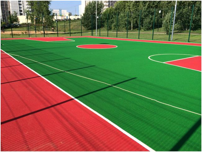 спортивная площадка из резиновой крошки