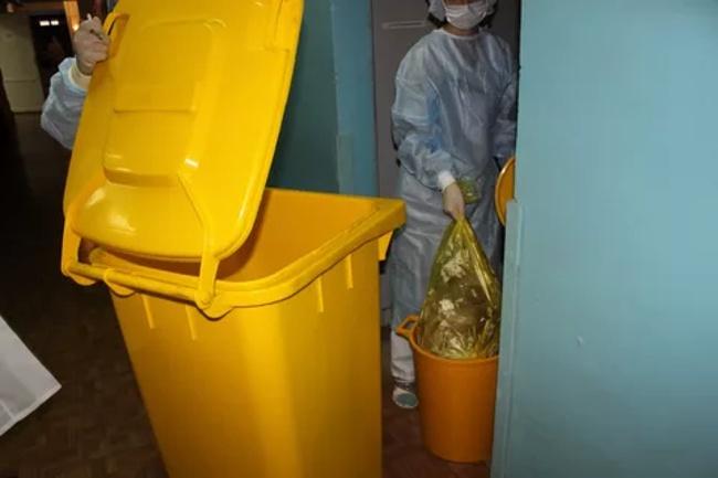 желтый контейнер
