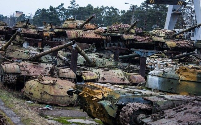 куча ржавых танков